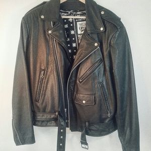 VTG Open Road Thinsulate Moto Leather Jacket XL
